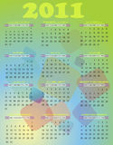 2011 calendar. Calendar for 2011 year in abstract background Stock Illustration