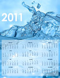 2011 Calendar. With water splash Stock Photography