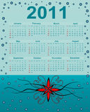 2011 Calendar. Abstract background decoration royalty free illustration