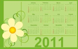 2011 Calendar. Royalty Free Stock Photography