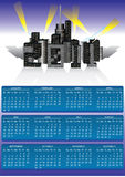 2011 calendar. Skyscraper poster calendar vector illustration royalty free illustration