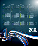 2011 calendar. Vector- colorful 2011 calendar design element stock illustration