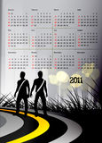 2011 calendar. Vector - 2011 calendar design element Stock Image