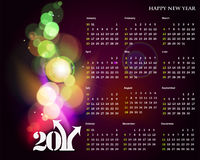 2011 calendar. Vector- colorful 2011 calendar design element Royalty Free Stock Photos