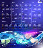 2011 calendar. Vector- colorful 2011 calendar design element vector illustration