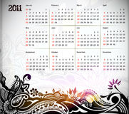 2011 calendar. Vector illustration - colorful 2011 calendar design element Royalty Free Stock Photos