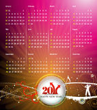 2011 calendar. Vector- colorful 2011 calendar design element Royalty Free Illustration