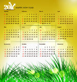 2011 calendar. Vector- colorful 2011 calendar design element Royalty Free Stock Images