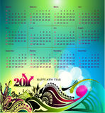 2011 calendar. Vector- colorful 2011 calendar design element Stock Photos