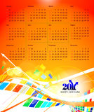 2011 calendar. Vector- colorful 2011 calendar design element Stock Image