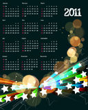 2011 calendar. Vector- colorful 2011 calendar design element Royalty Free Stock Photography