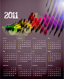 2011 calendar. Vector- colorful 2011 calendar design element Stock Images