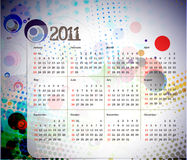 2011 calendar. Vector - colorful 2011 calendar design element royalty free illustration