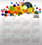 2011 calendar. Vector- colorful 2011 calendar design element Royalty Free Stock Photo