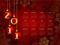 2011 calendar. With christmas concept royalty free illustration