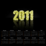 2011 calendar. This is a calendar for 2011 on a black background vector illustration