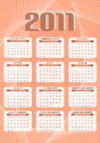 2011 calendar. In abstract background royalty free illustration