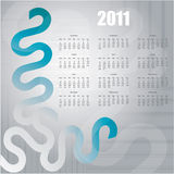 2011 Calendar. With special design Royalty Free Illustration