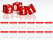 2011 calendar. Calendar for 2011 on a white background royalty free illustration