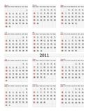 2011 calendar. Illustration of vertical 2011 calendar template Royalty Free Stock Photography