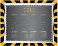 2011 calendar. With special design Stock Illustration