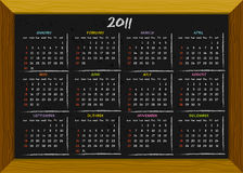 2011 calendar chalkboard style. 2011 calendar with English months/days (weeks start on Sundays Royalty Free Stock Photo