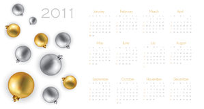 2011 calendar with christmas. Background in editable  format Stock Photography