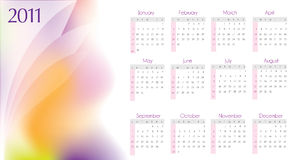 2011 calendar design. In editable  format Royalty Free Stock Photos