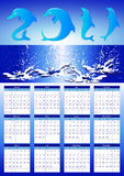 2011 calendar  with dolphins Stock Photo