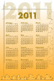 2011 Calendar with houses. Architecture theme Royalty Free Stock Image