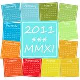 2011 calendar in seasonal colors. Calendar for 2011, weeks start on Monday vector illustration