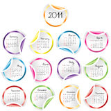 2011 Calendar with stickers Stock Images