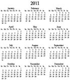 2011 Calendar Template Stock Photo