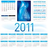 2011 Calendar Template Stock Photography