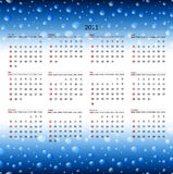 2011 calendar template. Horizontal 2011 calendar template at wet background Royalty Free Illustration