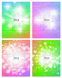 2011 calendar templates. Vertical 2011 calendar four templates collection royalty free illustration