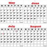 2011 calendar Two of three Stock Image