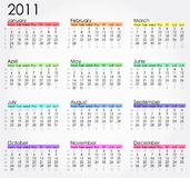 2011 calender Royalty Free Stock Image