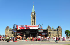 2011 Canada Day in Parliament Hill, Ottawa Stock Photos