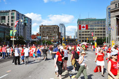 2011 Canada Day Wellington Street, Ottawa, Canada Royalty Free Stock Image