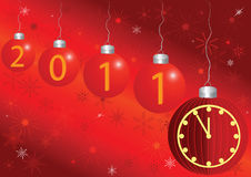 2011 card with a clock. 2011 new year card with a clock and space for the text Royalty Free Stock Photography