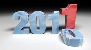 2011 che sostituisce 2010 fotografia stock libera da diritti