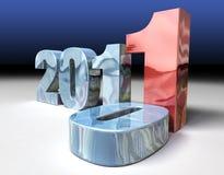 2011 che sostituisce 2010 fotografie stock