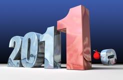 2011 che sostituisce 2010 Immagine Stock Libera da Diritti