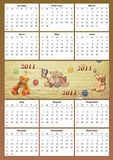 2011 childish calendar Stock Images