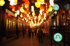 2011 Chinese New Year  and startbucks coffee Stock Images