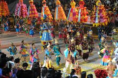 2011 chingay parada Singapore Fotografia Royalty Free