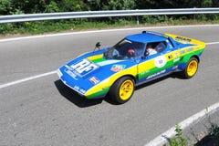 2011 chorągwiany Lancia srebny stratos vernasca Obrazy Royalty Free