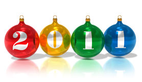 2011 Christmas balls Stock Images