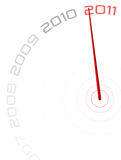 2011 Clock. Countdown to New Year royalty free illustration